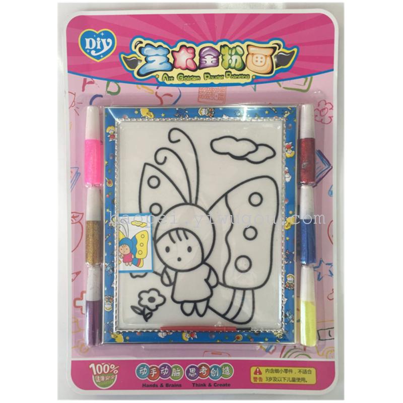 polvere dipinto penna fissato a sei diy colore stile completo