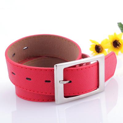 Belt belt female wide belt jeans decorative belt blue