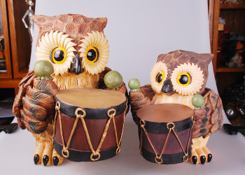 Small decorative crafts are Home Furnishing owl resin decoration gift table living room decoration