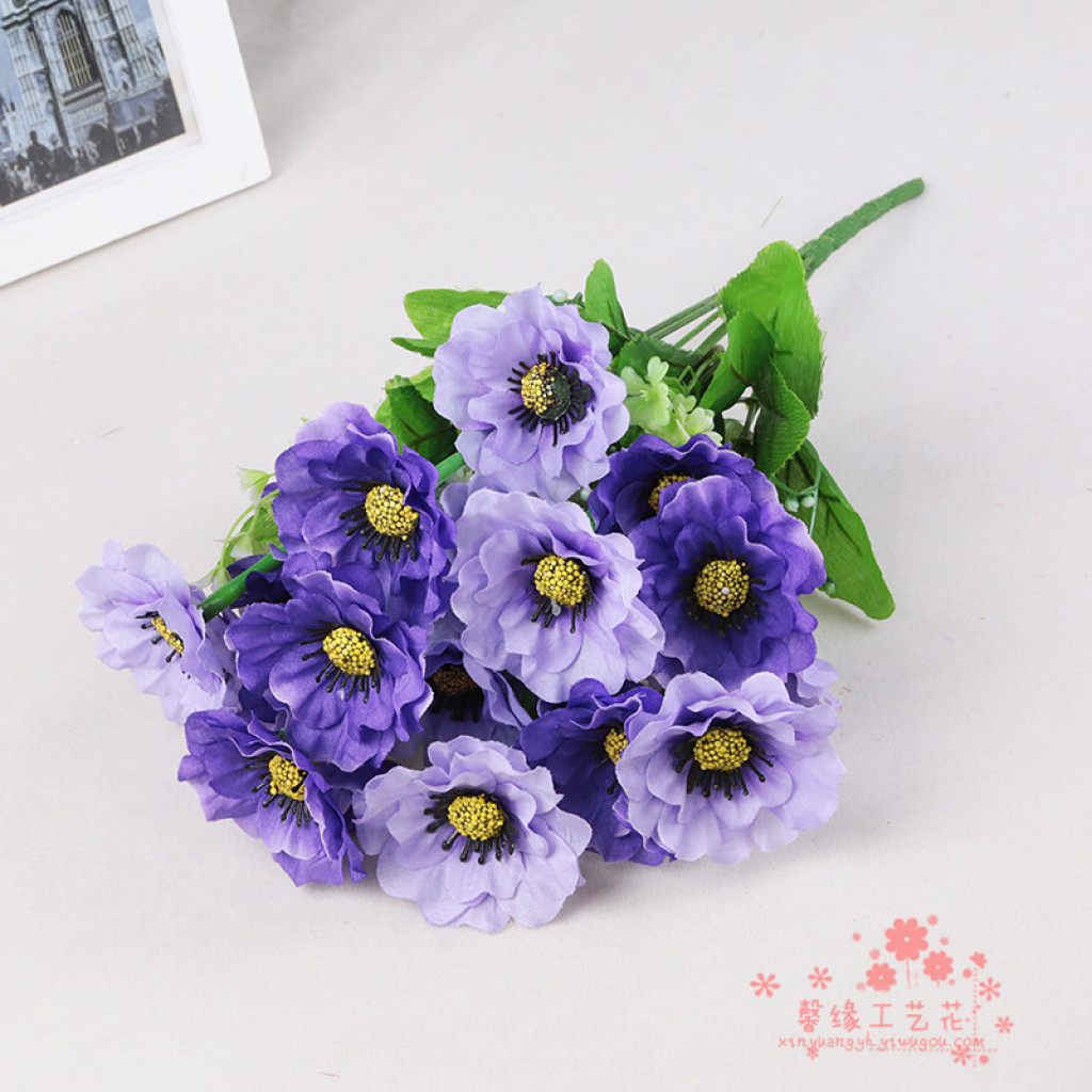 Supply little daisy bouquet decorative flower silk flower home little daisy bouquet decorative flower silk flower home furnishing simulation room decor izmirmasajfo