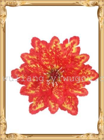 Screen printing black red flowers