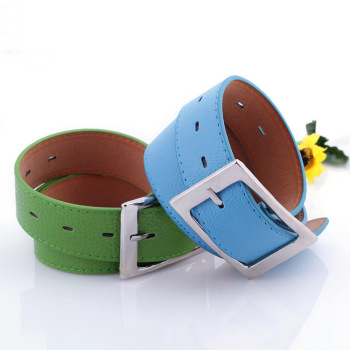 Belt belt female wide belt jeans decorative belt blue