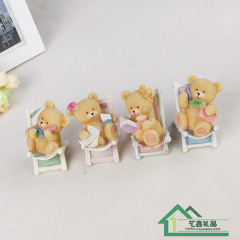Car decoration crafts creative decoration decoration resin bear lovers