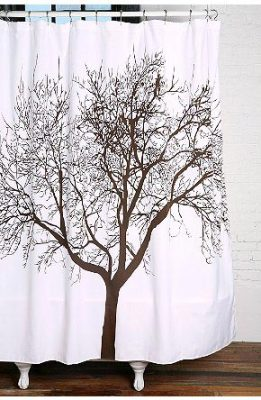The supermarket selling IKEA tree polyester fabric waterproof mildew bath curtain