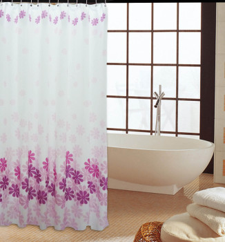 Peach blossom thick waterproof mildew ultra thick polyester fabric curtain hook to send