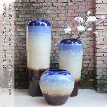 Creative grand vase French three piece ceramic Home Furnishing decoration indoor flower crafts