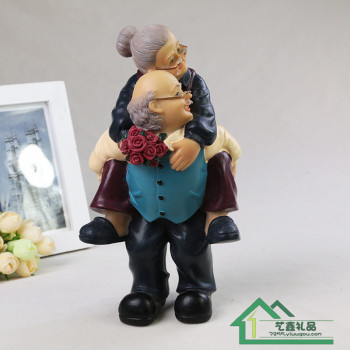 The old grandma and grandpa figure decoration decoration creative resin crafts