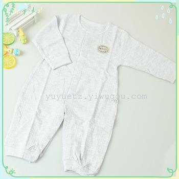 The new spring and summer cotton jacquard closed crotch leotard infant baby clothes