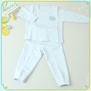 The new spring and summer cotton low collar Buckle Shoulder children baby wear 2 piece