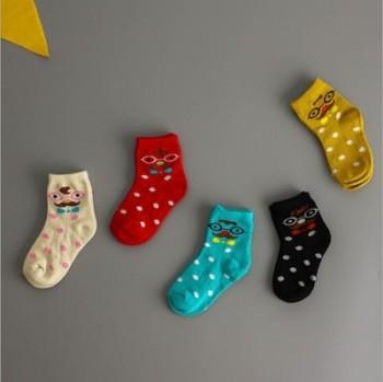 South Korea glasses socks for men and women cotton socks Tong Hu wavelet