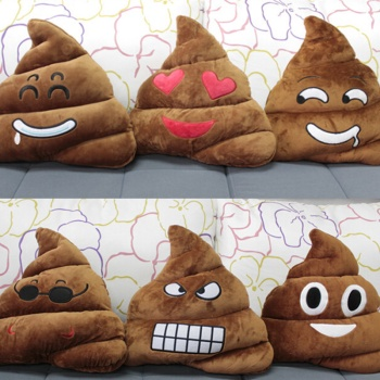 QQ new cute plush toys creative expression pillow pillow pillow round stool is shit