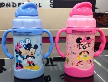 迪士尼儿童保温杯不锈钢杯子可爱米奇米妮保温杯水壶