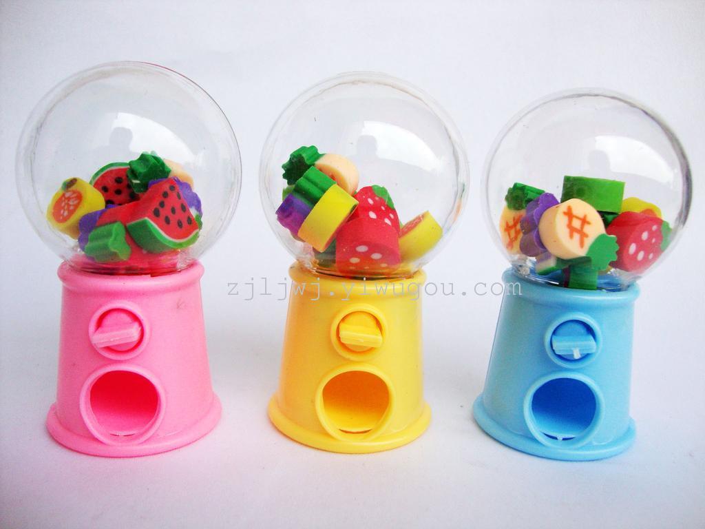 可爱扭蛋机卡通水果造型橡皮擦 儿童礼物小学生奖品图片