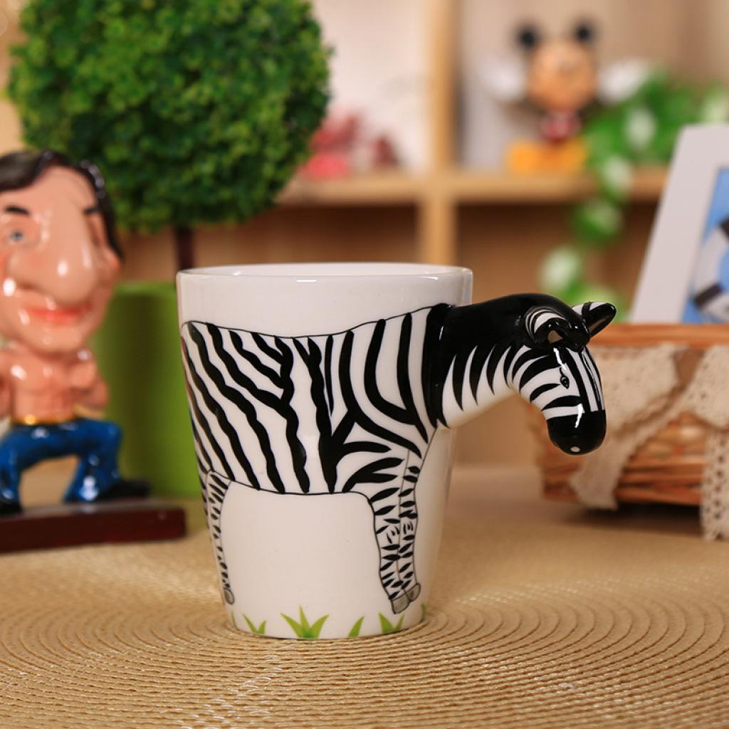 3d立体纯手绘动物杯 创意办公马克杯水杯