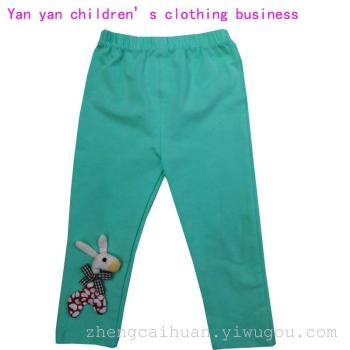 17 new summer girls Leggings thin cotton cloth child trousers