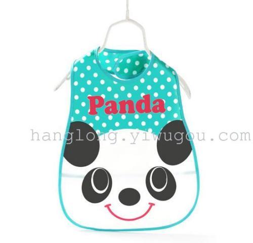 Custom cartoon printing rice baby clothes towel Bib baby slobber EVA Waterproof Bib Overalls