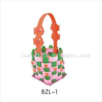 EVA hand-sewn bag DIY gift bag preparation of blue shopping basket early childhood kits