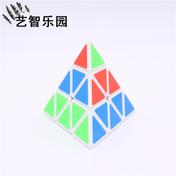 圣手三阶金字塔三角形魔方弹簧可调异形比赛专用玩具