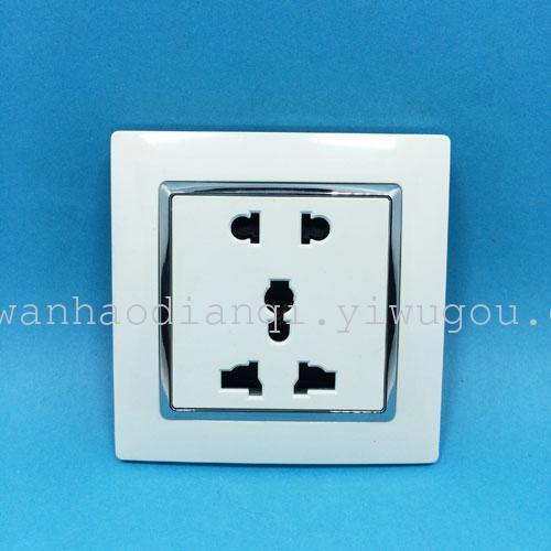 Supply Switch socket panel Power socket Five hole two-three plug ...
