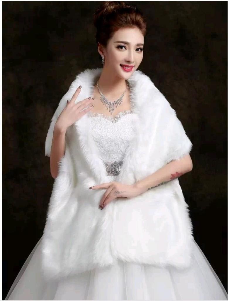 新娘披肩伴娘姐妹礼服披肩冬天保暖小坎肩披纱婚纱__.图片