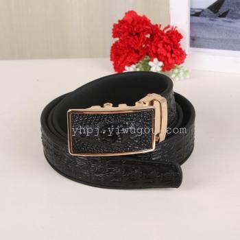 4.0cm men's alloy alligator Alligator strap leather strap