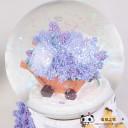创意家居树脂工艺品水晶球音乐盒薰衣草摆件