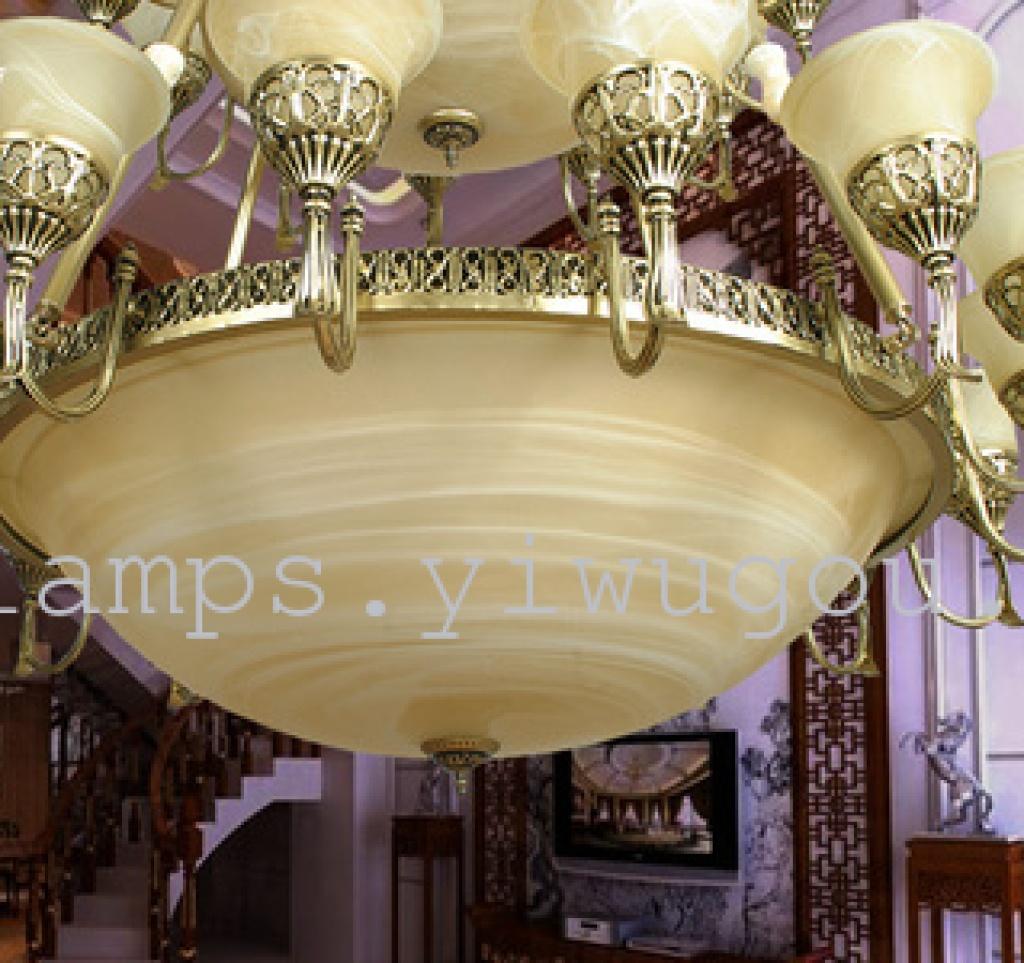 定制四层欧式大吊灯 古铜灯 复式教堂灯 别墅吊灯 楼中楼灯具