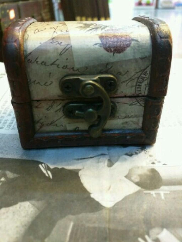 仿古玫瑰信笺欧式古典首饰盒