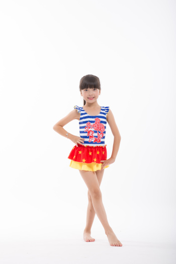 Chinese dream series of lively dragon dance children's swimwear swimsuit double star