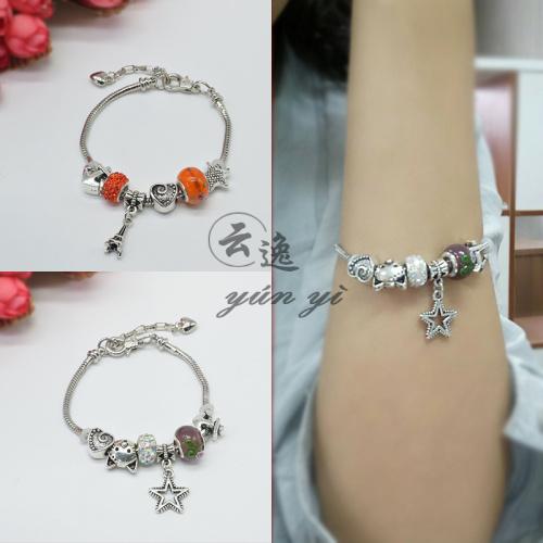 European style fashion accessories chain bracelet Pandora jadoku finished DIY crystal diamond bracelet female