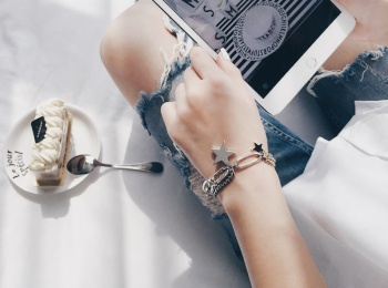 South Korea accessories wholesale custom all-match old bracelet jewelry chain multi stars