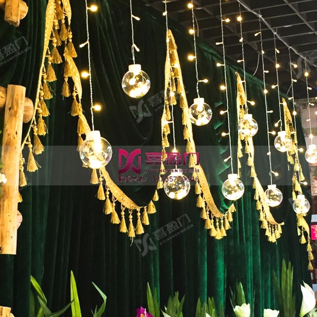 婚庆led串灯 3米暖光新款 背景装饰灯 婚礼迎宾区布置