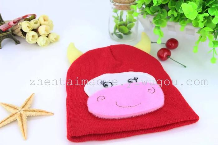 冬季儿童针织帽,卡通帽