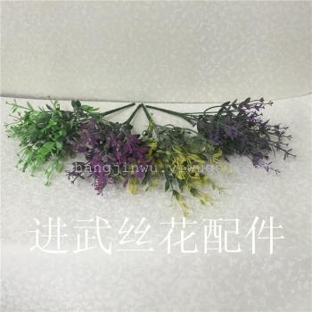 Artificial flowers flowers plastic flower hair 14 head Jiang Long