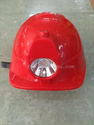 Safety helmet with LED lamp