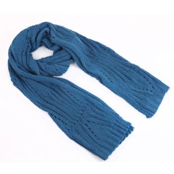 秋冬款纯色毛线编织围巾