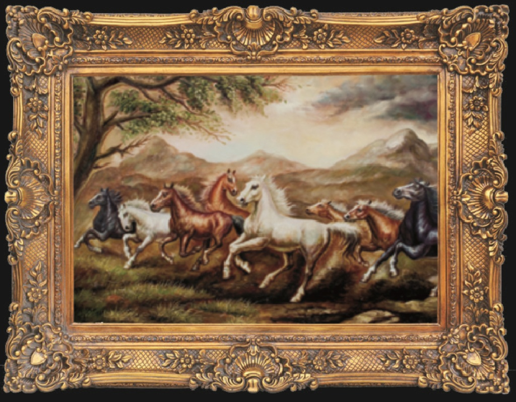欧式画框 油画框 装饰画 复古艺术画框 工艺画6912