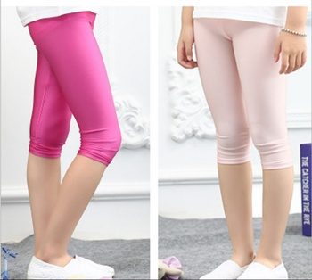 Factory direct summer children seven shiny thin elastic pants Leggings Pants