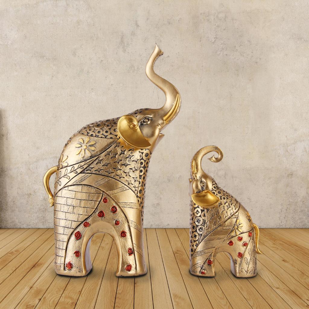 树脂工艺品 欧式家居大象客厅装饰品 酒柜摆设 结婚礼物