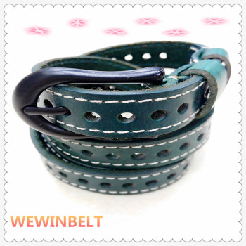 Ladies fashion belts all-match jeans flat hollow decorative dress belt