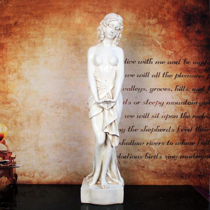 玻璃钢工艺品 美女人物雕像摆件