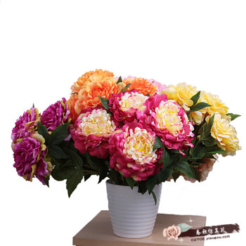 The five head of Alice Home Furnishing decorative peony flower simulation, simulation of plants, artificial flowers