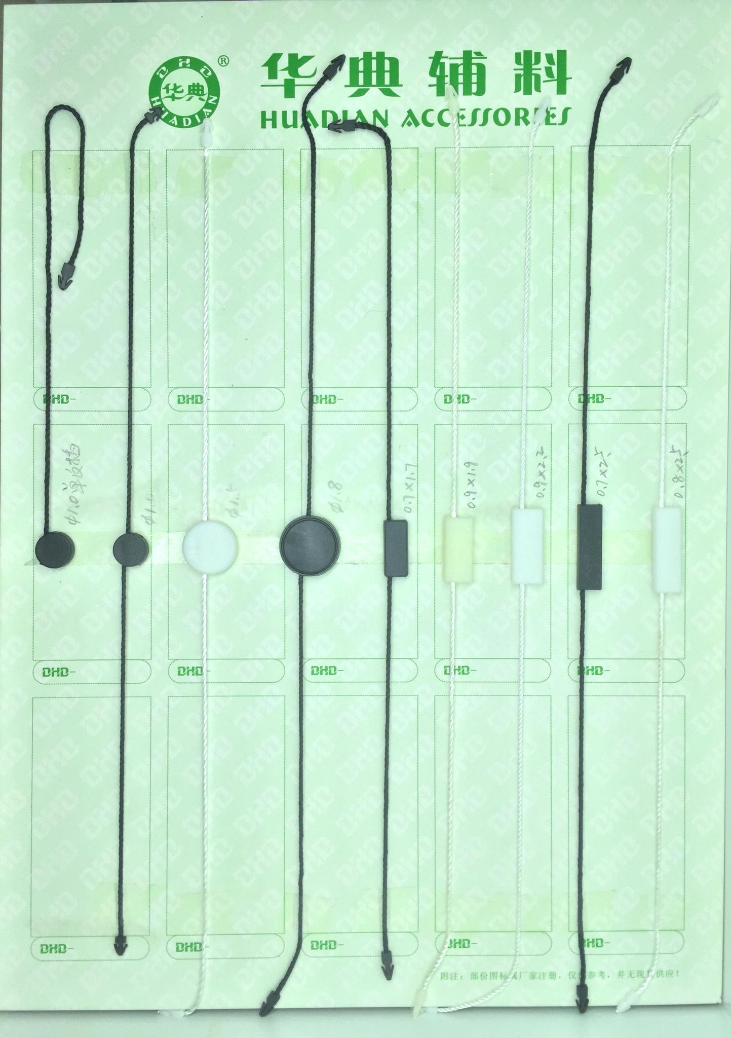 普遍的な中断された微粒子ロープ コード コード クラスプ衣類ラベル ライセンス停止粒子を取り消す