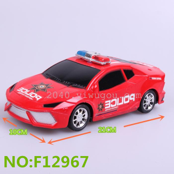 New model of maternal and child store toys wholesale inertia P 911 sticker toy car