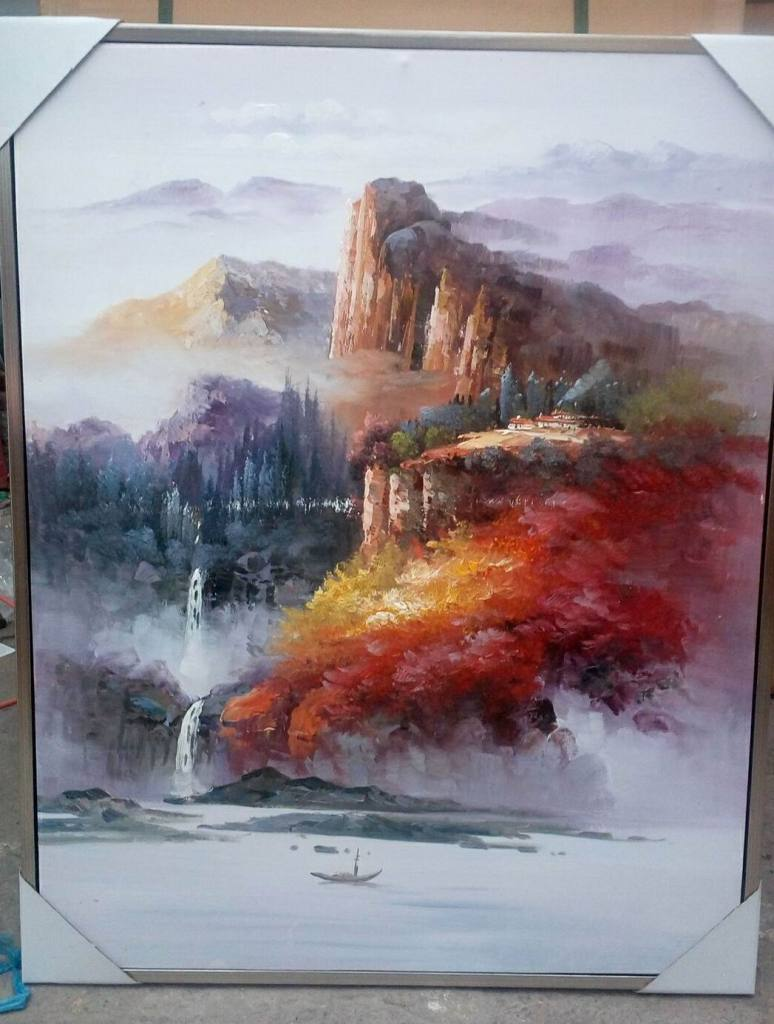 玄关手绘油画