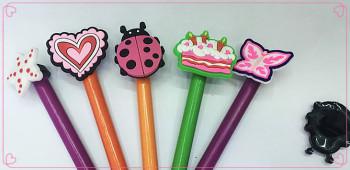 Cute pencil sets PVC soft rubber factory direct sales!!