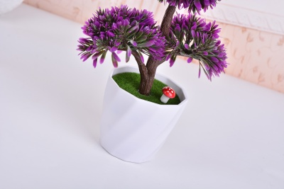 Small potted flower simulation simulation artificial flowers immortalized retro plastic basin tree