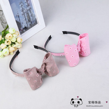 The Korean version of the hair accessories fabric wide cloth butterfly knot head hoop hoop