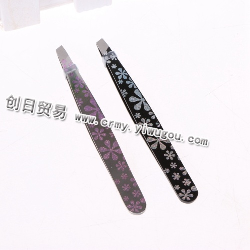 Gilded eyebrow clip eyelash clip pull eyebrow tweezer tool for cosmetic tweezers