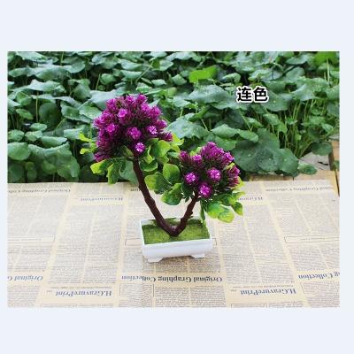 Artificial flowers potted flower simulation simulation plastic basin V word tree plant simulation tree